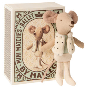 Maileg Dancer in Matchbox Little Brother Mouse: 16-0725-01