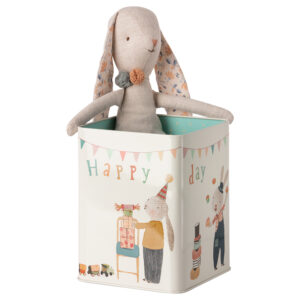 Maileg Happy Day Bunny in Box Medium: 16-0970-01