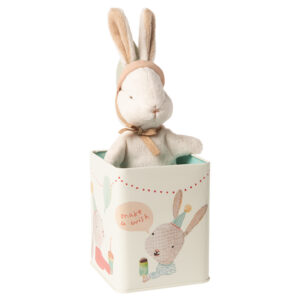 Maileg Happy Bunny in Box Small: 16-0993-01