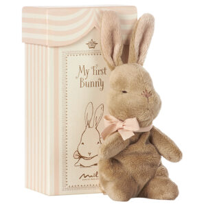 Maileg My First Bunny in Box, Rose: 16-7930-00