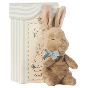 Maileg My First Bunny in Box, Blue: 16-7931-00