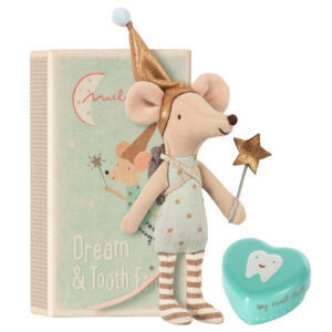 Maileg Tooth Fairy Boy Mouse With Metal Heart: 16-8731-01