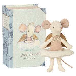 Maileg Angel Mouse Big Sister in Book: 16-8738-01