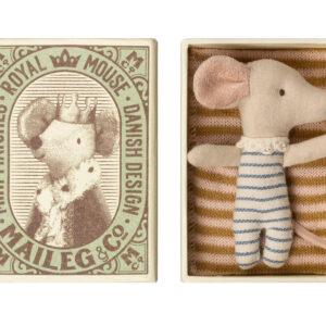 Maileg Baby Mouse Sleepy Wakey in Box – Boy: 16-9711-01