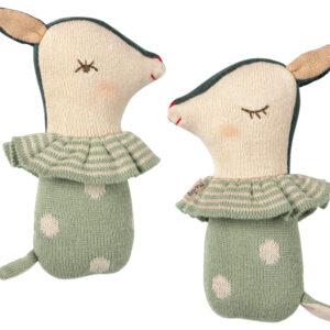 Maileg Bambi Rattle - Dusty Mint: 16-9910-01