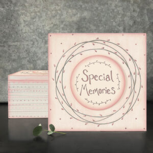 East of India Special Memories 5039041070586S Large Pink Striped Box