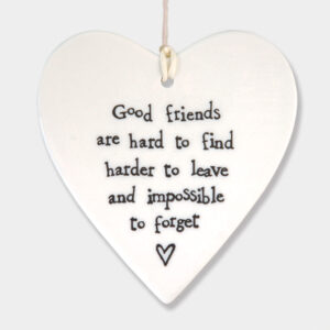 East of India Good friends 5039041047694 Porcelain round heart- 2049 8.5x9.5x0.5cm