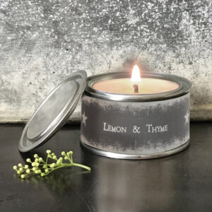 East of India Star Candle 5039041091741 - Lemon and Thyme 2096D 7.5x4.5x7.5cm