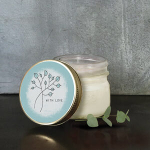 East of India Hedgerow Soy Candle 5039041091376 - With Love 2122C 7 x 6.8 x 7cm