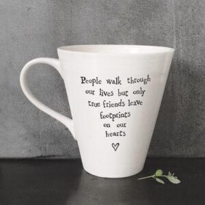 East of India Porcelain mug 5039041063090- People walk through our lives - 4164
