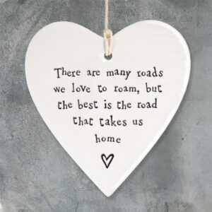 4210 Porcelain round heart-Road to home