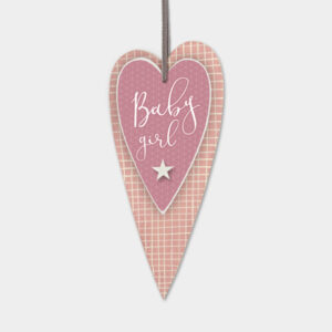 East of India Baby Girl 5039041081667 Long pink heart - 518