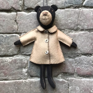 East of India Felt bear in jacket 5039041097507 - Freddie - 5494