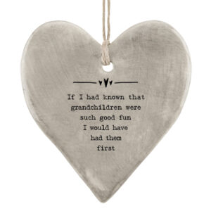 East of India Known grandchildren 5039041099044 Rustic hanging heart - 7406