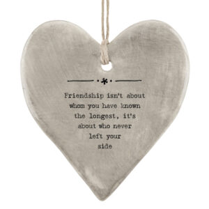 East of India Friendship about the longest 5039041099051 Rustic hanging heart - 7407