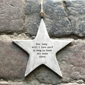 7422 Rustic hanging star-How long will I love you