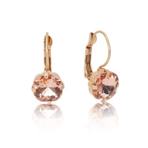 Lovett and Co. Crystal Cushion Cut Earrings - Vintage Rose - 11414