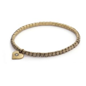 Lovett and Co. Diamante Stretch Bracelet Grey - Brass Plating - 10782
