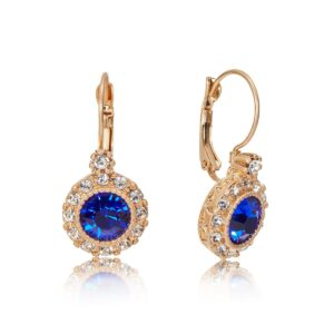 Lovett and Co. Diana Earrings Sapphire -11424
