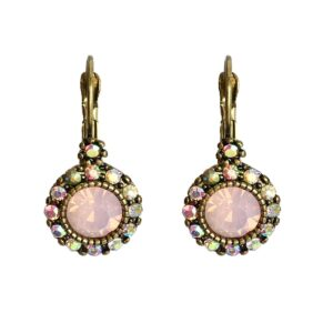 Lovett and Co. Vintage Stone French Clip Earring Pink - 11229
