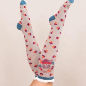 powder Design Nerd Bear Knee High Socks SOC248