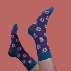 Powder Men's Socks Purple Westie MSOC25
