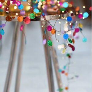 Colourful Confetti 120 LED Light Chain with transformer
