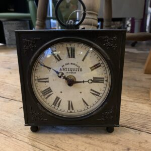 Murillo Clock 12cm x 12cm Black