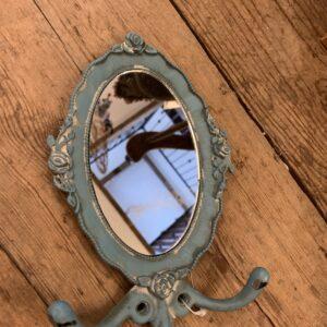 Double Hook Mirror Oval 12cm x 18.5cm