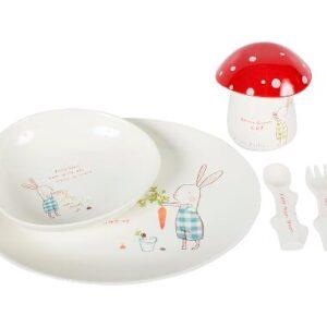 Maileg Bunny Green Melamine Dinner Set 29-5101-00