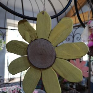 Yellow Wooden Hanging Flower