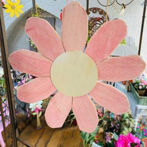 Large Wooden Hanging Flower