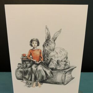 The Girl The Hare The Bear & The Cat Card