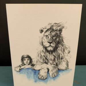 The Girl & The Lion Card