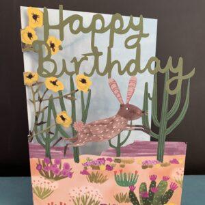 Happy Birthday Hare in the desert card