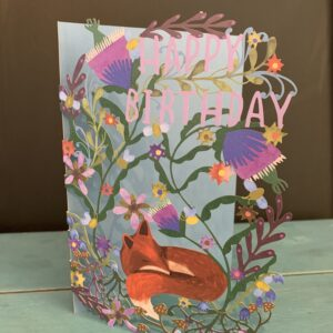 Happy Birthday Sleeping fox card
